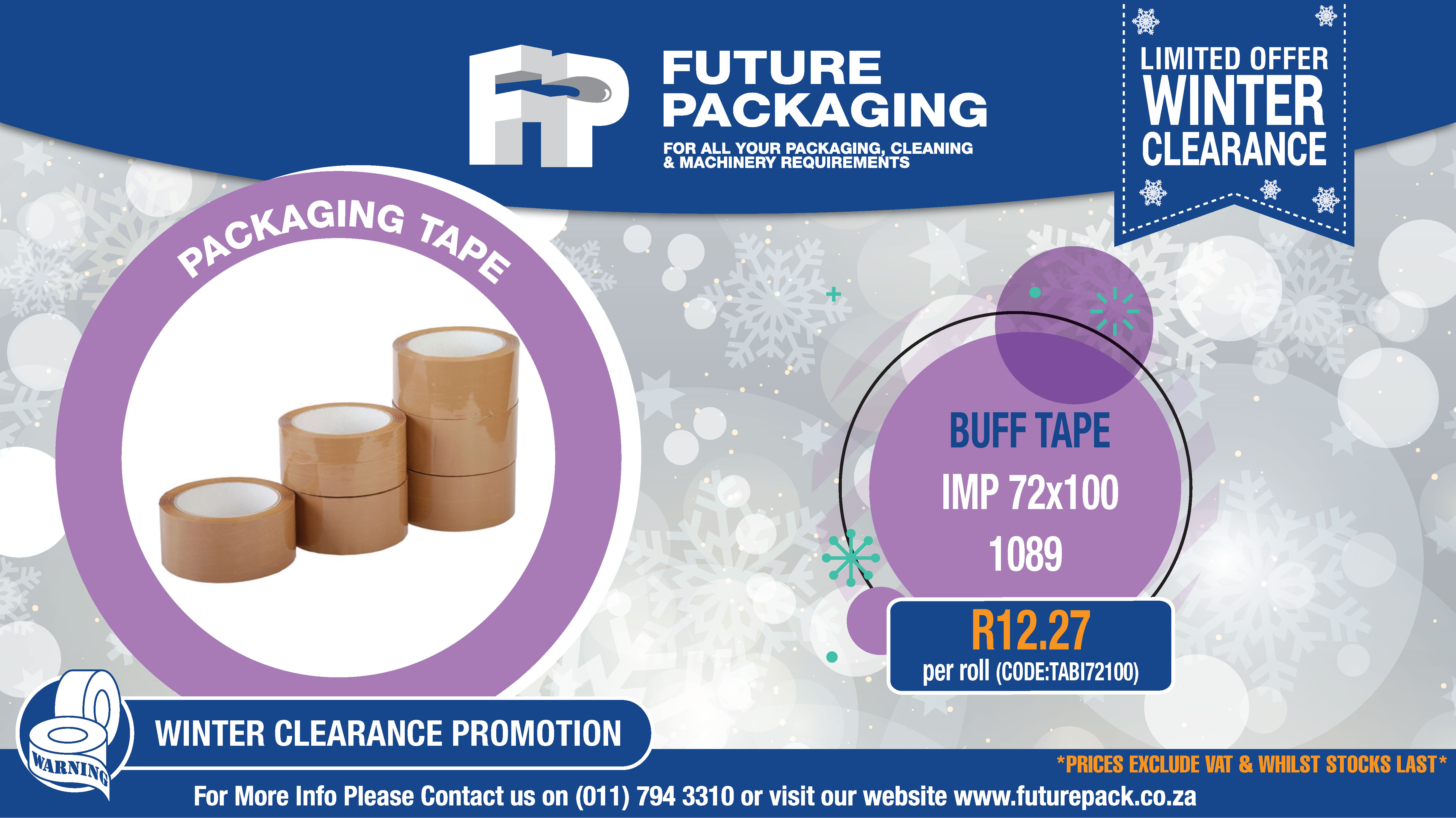 FP 1696-1 Winter clearance Packaging Tape Promo